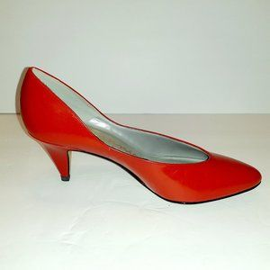 Connie Collection Lola Red Leather Pumps Size 7.5